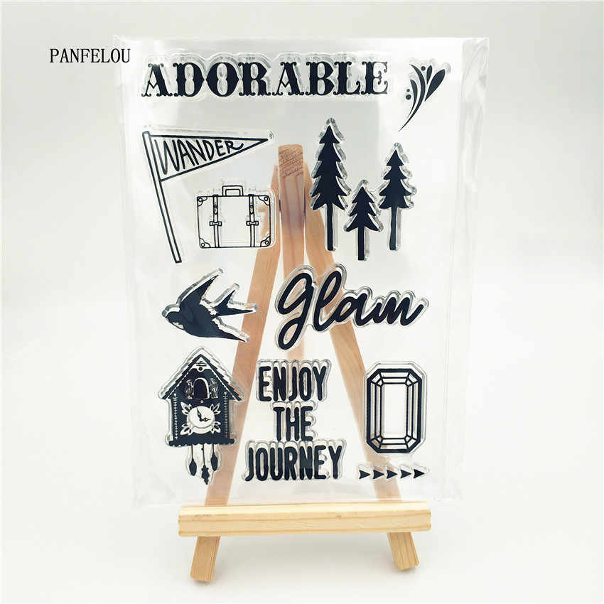 PANFELOU forest bird cage Transparent Clear Silicone Stamp/Seal DIY scrapbooking/photo album Decorative clear stamp sheets