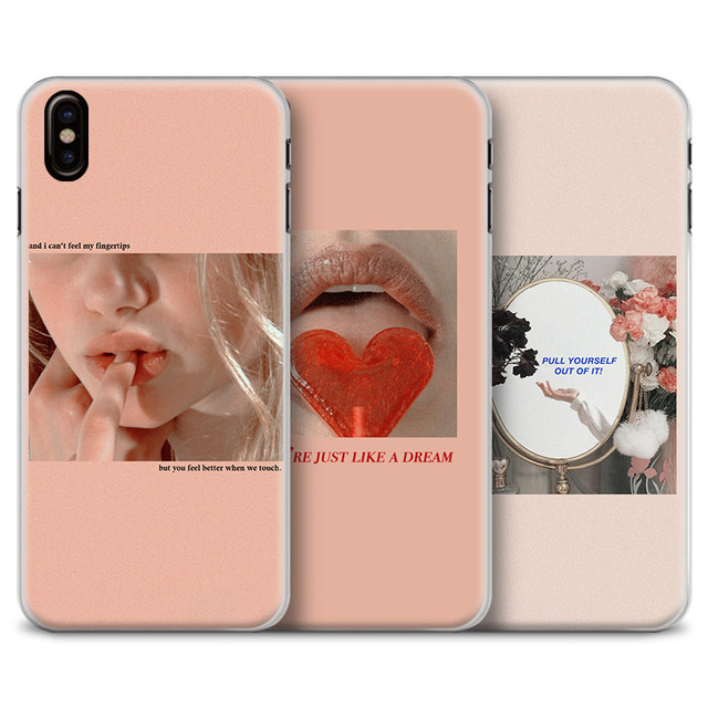 US $2 55 9% OFF|Pink Aesthetics songs lyrics Aesthetic quotes Phone Case  Cover Shell For Apple iPhone 5 6 6s 6Plus 6sPlus 7 8 7Plus 8Plus X-in
