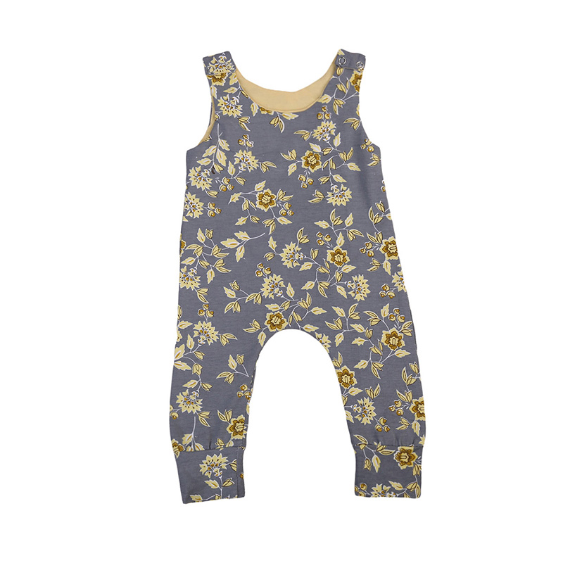 Cute Newborn Floral Clothes Sleeveless Infant Baby Girl Cotton Romper Jumpsuit Playsuit One Pieces Sunsuit Outfit Clothing 0-24M newborn infant baby girl clothes strap lace floral romper jumpsuit outfit summer cotton backless one pieces outfit baby onesie page 2