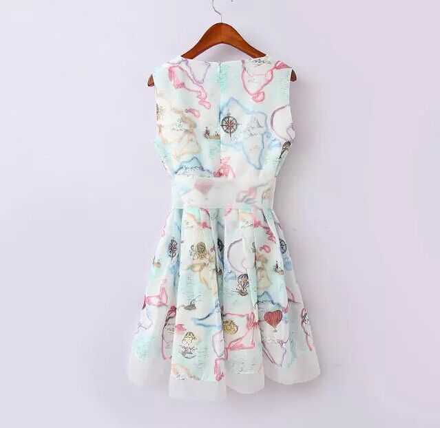 Pastel Fl Print Dresses