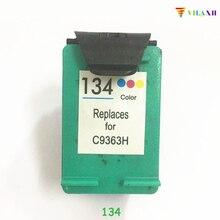 1 Pcs  Compatible Ink Cartridges For HP 134 HP134 Deskjet 6940 5943 5940 6943 6983 Printer