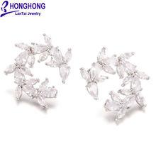 Honghong 2018 модные серьги из циркона для женщин высокое качество