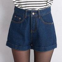 Plus size vintage summer cheap high waist short jeans casual woman denim shorts feminino female loose women sexy jean shorts