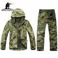 Открытый камуфляж военная форма, зимняя термальная руно тактические одежда для охоты и рыбалки, usarmy военная одежда