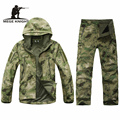Outdoor camouflage military uniform, winter thermal fleece tactical clothes for hunting and fishing, U.s. army military clothing
