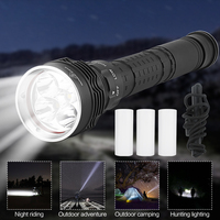 BORUIT 50W 12000Lm Powerful 5xXM L2 LED rechargeable Diving Flashlight 100M Diver Flash Light Stepless Dimming Waterproof Torch