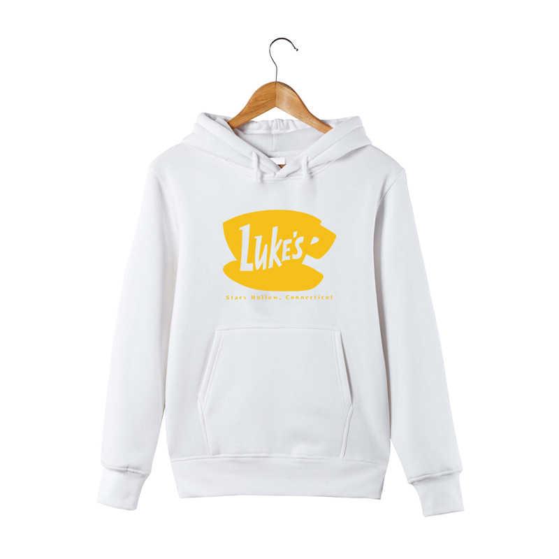 4c6d1edab Luke's Diner Hoodie Gilmore Girls Lukes Hoodie Stars Hallow Lorelai Rory  Lane Hooded Pullover Sweatershirt