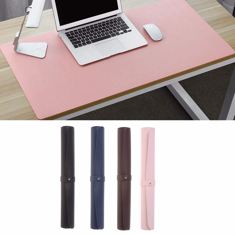 Large Size Waterproof Extended Microfiber leather Mouse Mat For Office Writing Desk Gami ...