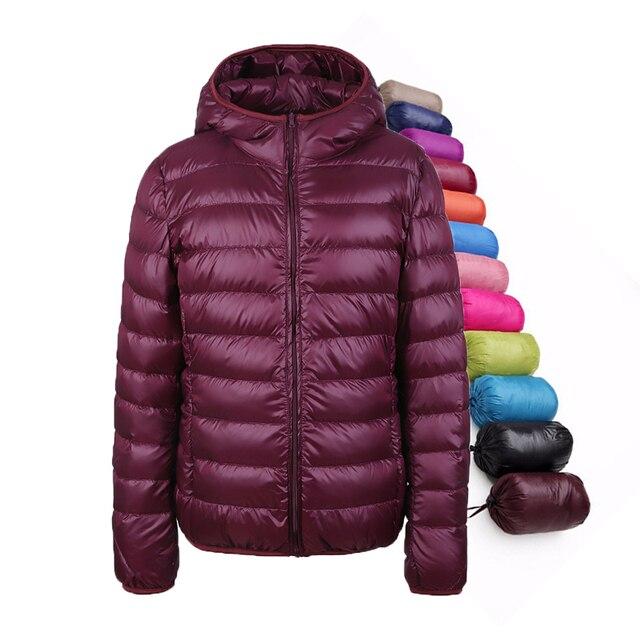2016 зима женщины куртка 90% белая утка вниз, ultra light утка вниз пальто тонкий женщин для девочки верхней одежды снег парка куртка