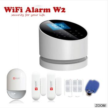 Kerui Wireless W2 WIFI Alarm system PSTN GSM Home Alarm system Security Burglar Alarm System Auto Dialer APP control 2 receivers 60 buzzers wireless restaurant buzzer caller table call calling button waiter pager system