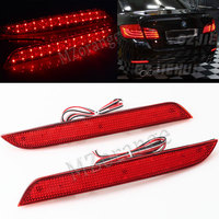 1 Pair 25 LED Rear Bumper Reflector Light Added Tail Brake Stop Lamp for BMW F10 5 Series 2011+ F10 F11 F18 528i 535i 550i