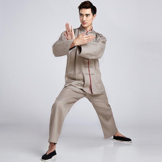 Wushu Traditional Chinese Clothing TaiChi KungFu Uniform Suit Uniforms Tai Chi Morning Exercise Performance Wear Clothing
