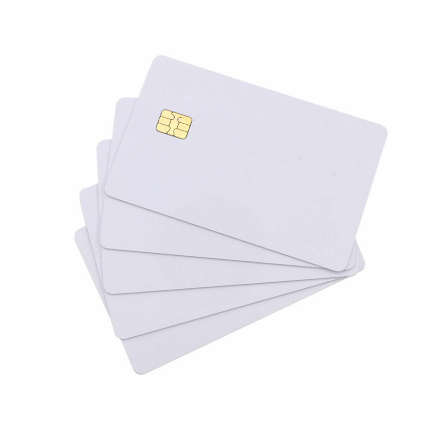 5pcs/10pcs Blank PVC Contact Smart IC Card with 4442 Chip White Card 256bit ISO7816