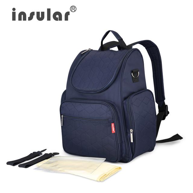 INSULAR Moda bolsa Multifuncional Bolso de La Momia para cochecito de bebé Bolsas de pañales del Bebé del pañal bolsas de Pañales Mochila de Gran Capacidad