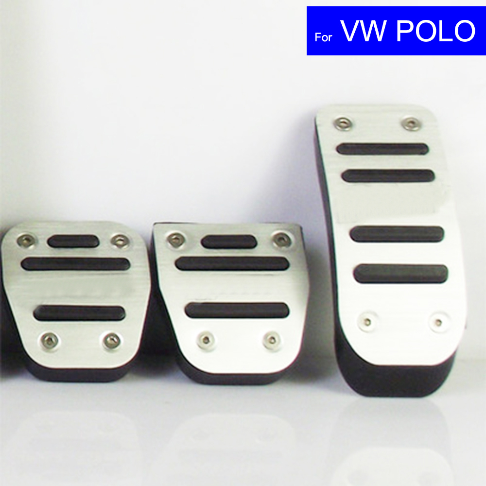 Car Petrol Clutch Fuel Brake Pad Foot Pedals Rest Plate for VW Volkswagen CC Golf 6/ Golf 7 Polo Auto Pedals Free Shipping