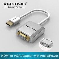 Intervento Metallo HDMI a VGA Convertitore Dell'adattatore Cable1080p con Audio & Micro USB power port Supportato per il Computer Portatile Del Proiettore HDTV