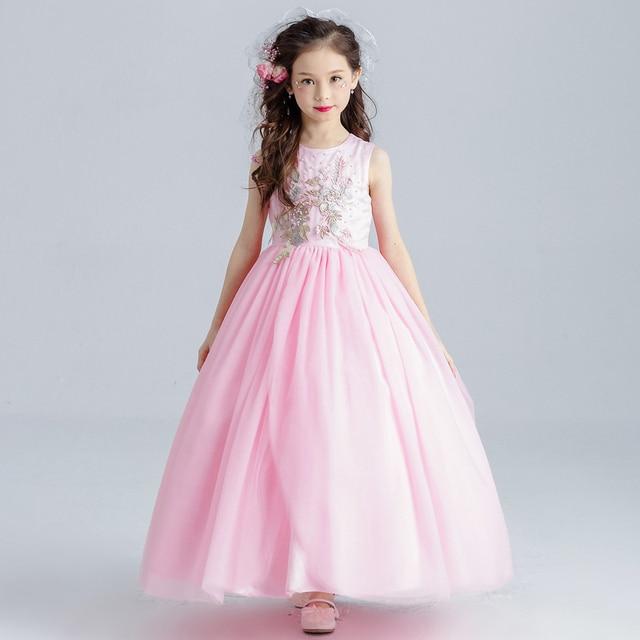 Princesa vestido de la muchacha 3 14 años 2017 verano vestido de ...