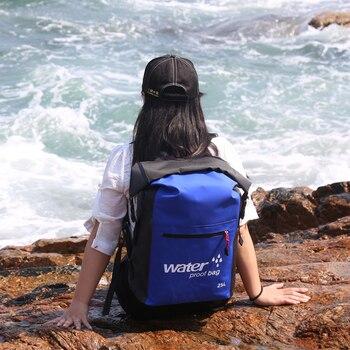 25L Folding Waterproof Swimming Backpack Dry Bags Bucket Outdoor Rafting Kayaking Canoeing Swimming Trekking Diving Backpack Bag