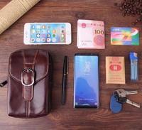 Belt Clip Man Genuine Cow Leather Mobile Phone Case Pouch For Galaxy S7 active/S8 active/C/S7/S6,A3/A5/A7/J3/J5/J7/J2 PRO(2016)