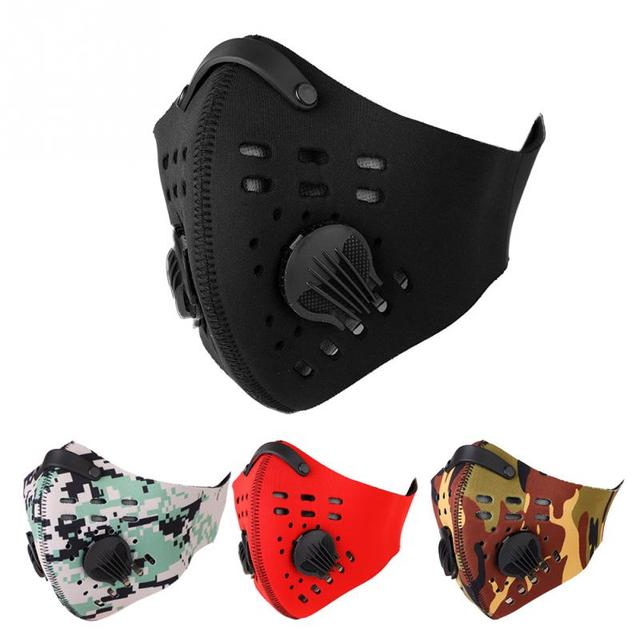 4Colors Cycling Mask Activated Carbon Anti-Pollution Masks Warm Dustproof Mountain Road Bicycle Half Face Mask Bike Accessories