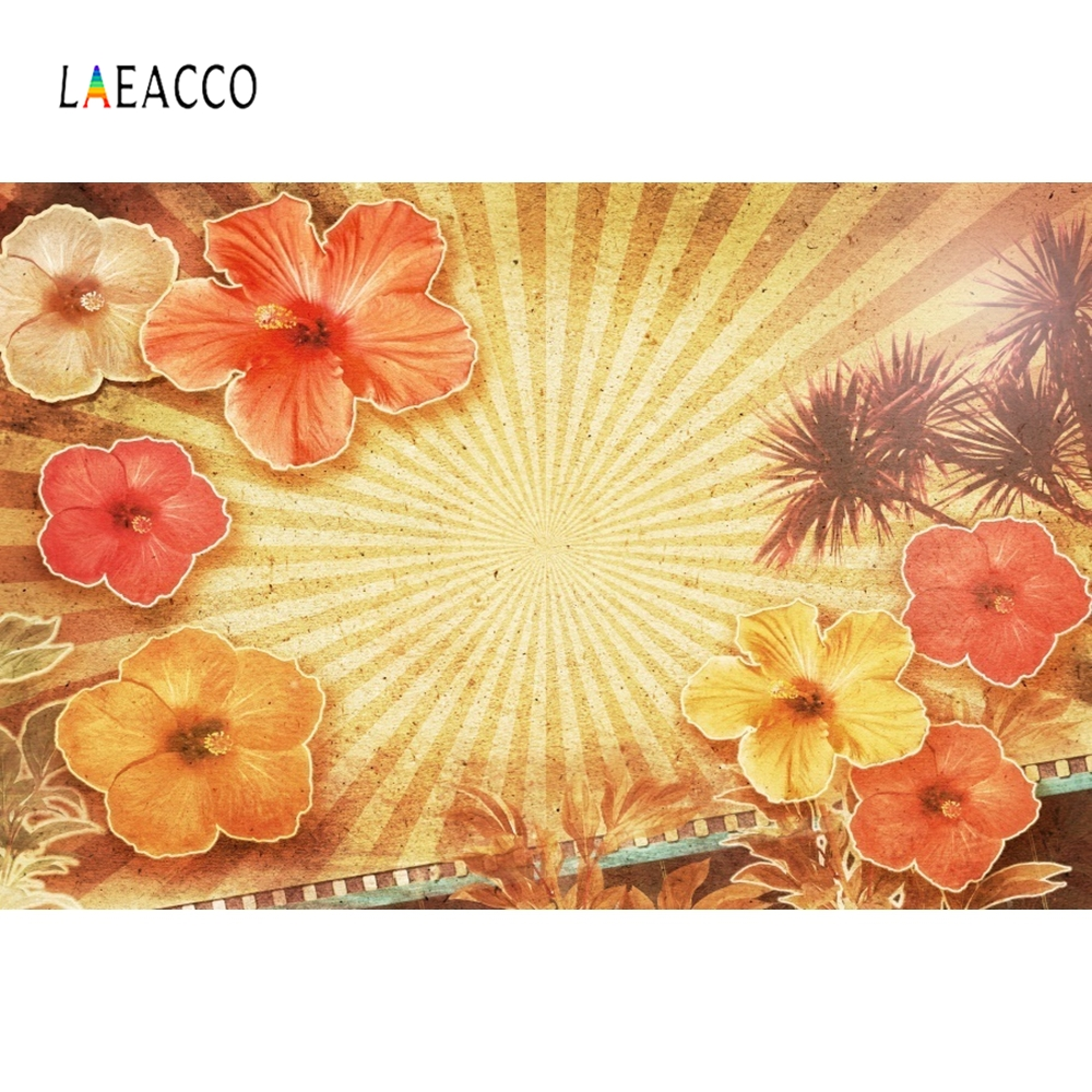 Laeacco Retro Yellow Backdrop Flowers Photography Backgrounds Customized Photographic Backdrops For Photo Studio in Background from Consumer Electronics