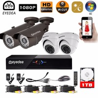 Mother S Day Eyedea Surveillance DVR 8 CH 1080P Bullet Dome CMOS Outdoor Waterproof Night Vision