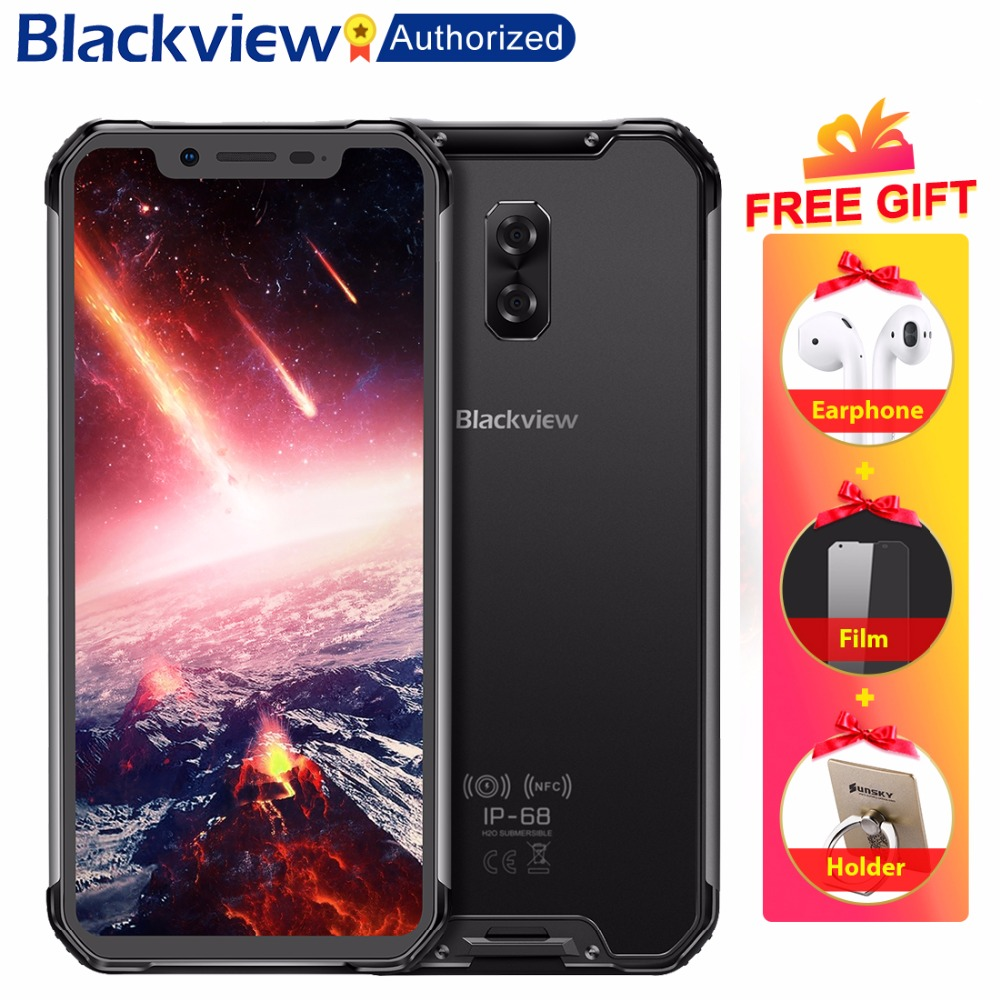 Blackview BV9600 Pro IP68 Étanche Mobile Helio P60 Octa core 6 gb RAM 128 gb ROM 6.21 AMOLED Android 8.1 Smartphone MT6771
