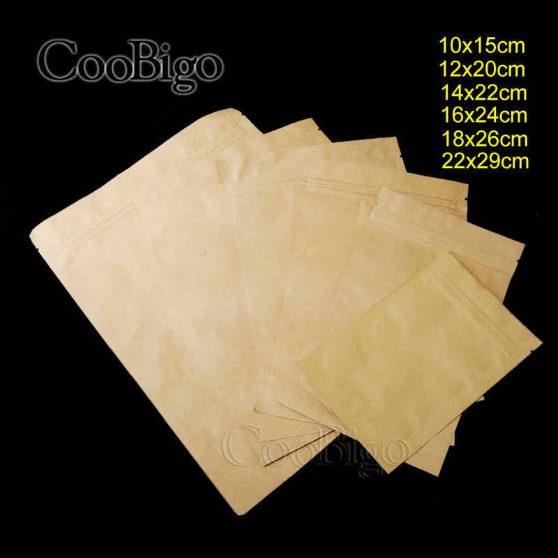 1 шт. тепловое уплотнение плоский тип клапан ziplock крафт бумажный пакет сумки W/матовый конфеты печенье дой-Пак молния сумка для хранения