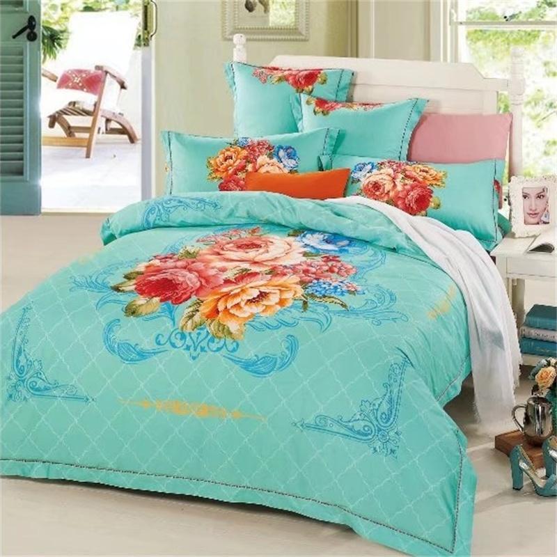 Classical Plaid and Floral Print Bedding Set Queen Size Duvet Covers Bed Sheets with Pillowcase 100% Cotton Bedroom SetsClassical Plaid and Floral Print Bedding Set Queen Size Duvet Covers Bed Sheets with Pillowcase 100% Cotton Bedroom Sets