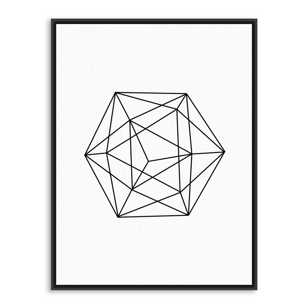 Black and white geometric shapes for Minimal art black and white