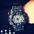 Top Fashion Man Military sports watch Camouflage Digital Watch LED Watches Clock reloj hombre 110 Camo men's wristwatches SANDA