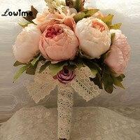 Vintage Western Garden Artificial Wedding Bouquet Bridal Bouquet Bridesmaid Boutique De Mariage Buque De Noiva Flower Artificial