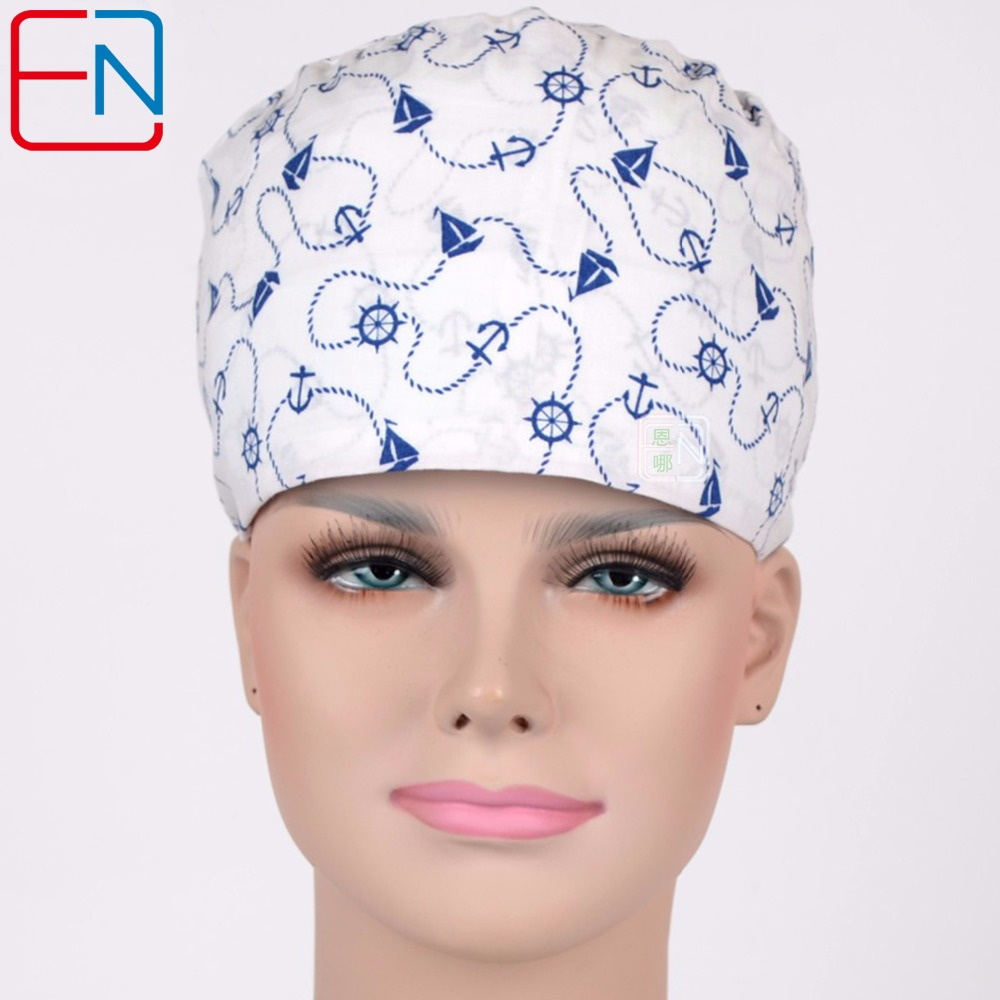 Hennar Medical Surgical Caps 2018 New Top Quality Medical Surgical Caps For Doctor Nurse Lab Beauty Clinic Adjustable Scrub Caps