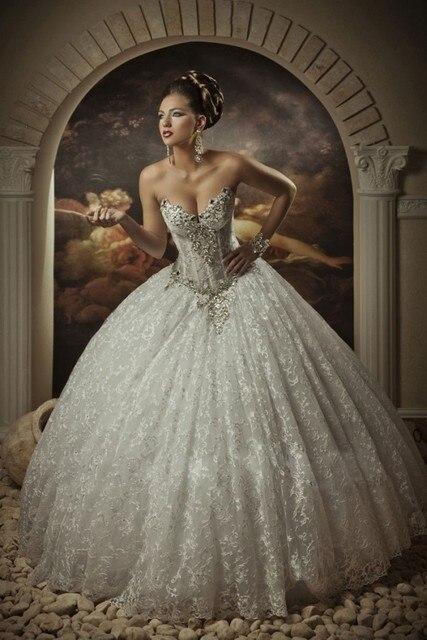 Neue Ankunft Perlen Top Gothic Hochzeitskleid Vestidos De Noiva Arabischen Luxus Prinzessin Ballkleid Brautkleider 2015 Brautkleid in Neue Ankunft ...