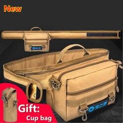Nowy wielofunkcyjny torby wędkarskie składana wędka torba futerał na zamek torby na sprzęt wędkarski przynęta wędkowanie na świeżym powietrzu talii opakowanie