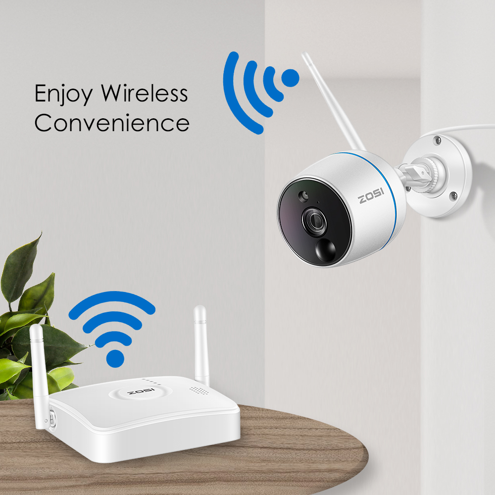 Image 4 - ZOSI Wireless Security CCTV Camera System 1080P Wifi Mini NVR Kit Outdoor Video Surveillance Cam Home Wireless Led IP Camera Set-in Surveillance System from Security & Protection