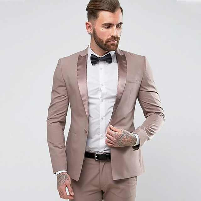 New Wedding Dress Custom Men's Suits Groom Banquet Dress Men's Business Suits Terno Masculino 2 Pieces (Jacket+Pant+Tie)