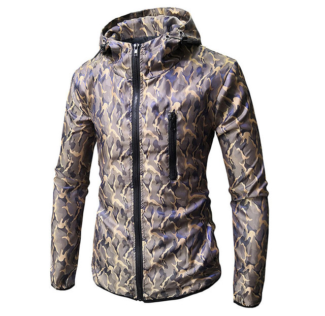Mens Spring Autumn Jackets Mens New Fashion Casual Straight Military Print Camouflage Jacket Coats High Quality Male Outerwear 2