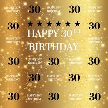 Laeacco Golden Light Bokeh Happy 30th Birthday Celebration Party Photography Backgrounds Photographic Backdrop For Photo Studio