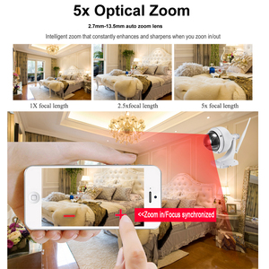 Image 4 - BESDER 1080P 960P Wireless Speed PTZ Wifi Camera Auto Zoom 5X 2.7 13.5mm ONVIF P2P Outdoor Waterproof IP Camera PTZ SD Card Slot