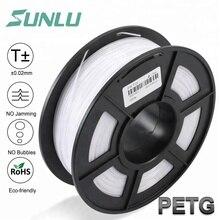 Новый 3d нити SUNLU PETG принтер 1,75 мм 1 кг/2.2LB катушка для подарок на день рождения рукоделие Принт быстрая доставка