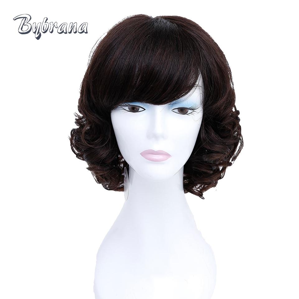 Bybrana Emberi Haj Paróka Női Bőr Remy Haj Barna Haj Karkötő - Emberi haj (fekete)