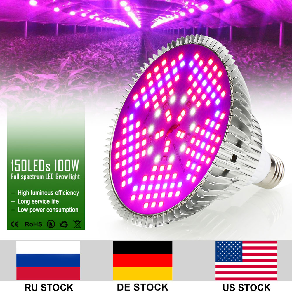 Nouvelle Arrivée 100 w 150 leds SMD2835 AC85 265 v LED Élèvent La Lumière Phytolamp Hydroponique Aquarium LED Élèvent La Lampe pour plantes