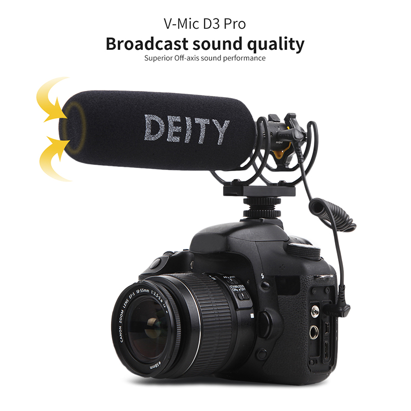 Deity V Mic D3 Pro Video Studio Microphone Super cardioid Polar Pattern Vlogging Condenser Recording Microfone