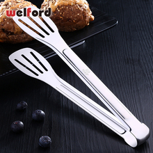 Stainless Steel Food Tongs Kitchen Barbecue Bbq Cooking Salad Kitchen Anti Heat Bread Clip Pastry Clamp Barbecue Kitchen Tongs