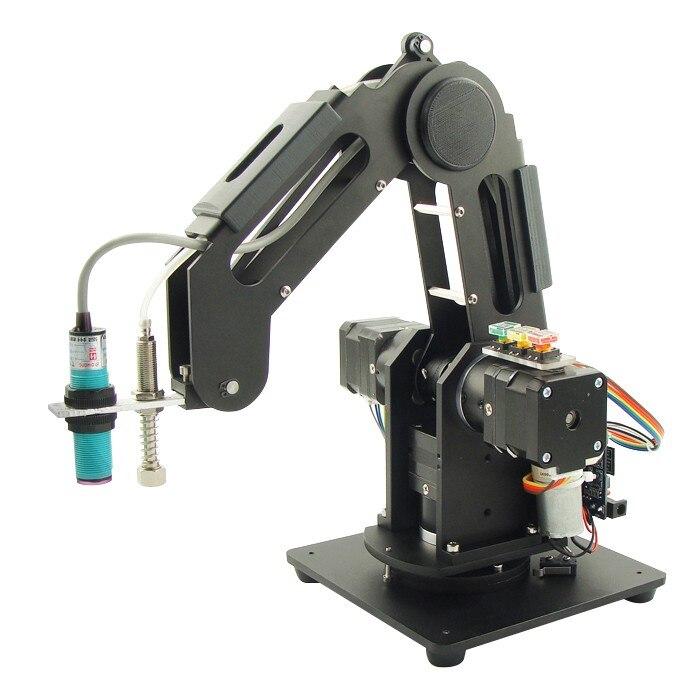 3-Axis Mechanical Robot Arm 3-DOF Robotic Arm + 3pcs Motors Aluminum Alloy 6061 Black 3-Axis Mechanical Robot Arm 3-DOF Robotic Arm + 3pcs Motors Aluminum Alloy 6061 Black