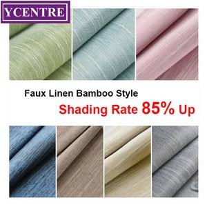 YCENTRE Faux Linen Solid Color