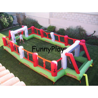 Надувные Футбол Детские площадки, гигантские надувные Футбол поле для продажи надувные Футбол шаг, открытый спортивные игры оборудования