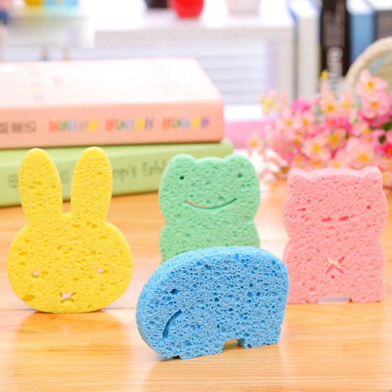 1 pc Baby Bath Cotton Pulp Baby Bath Sponge Rub Zao Baby Wipes Children Bath Baby Shower Bath Products