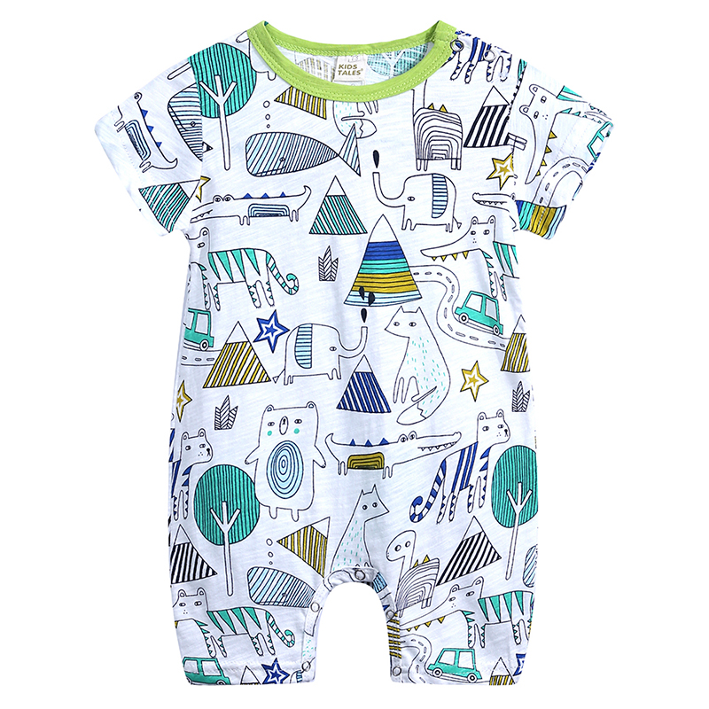 DLY380 Summer Baby Rompers Kids Tales Baby Boy Clothes Newborn Clothing cotton Baby Girl Clothes Roupas Infant Baby Jumpsuits